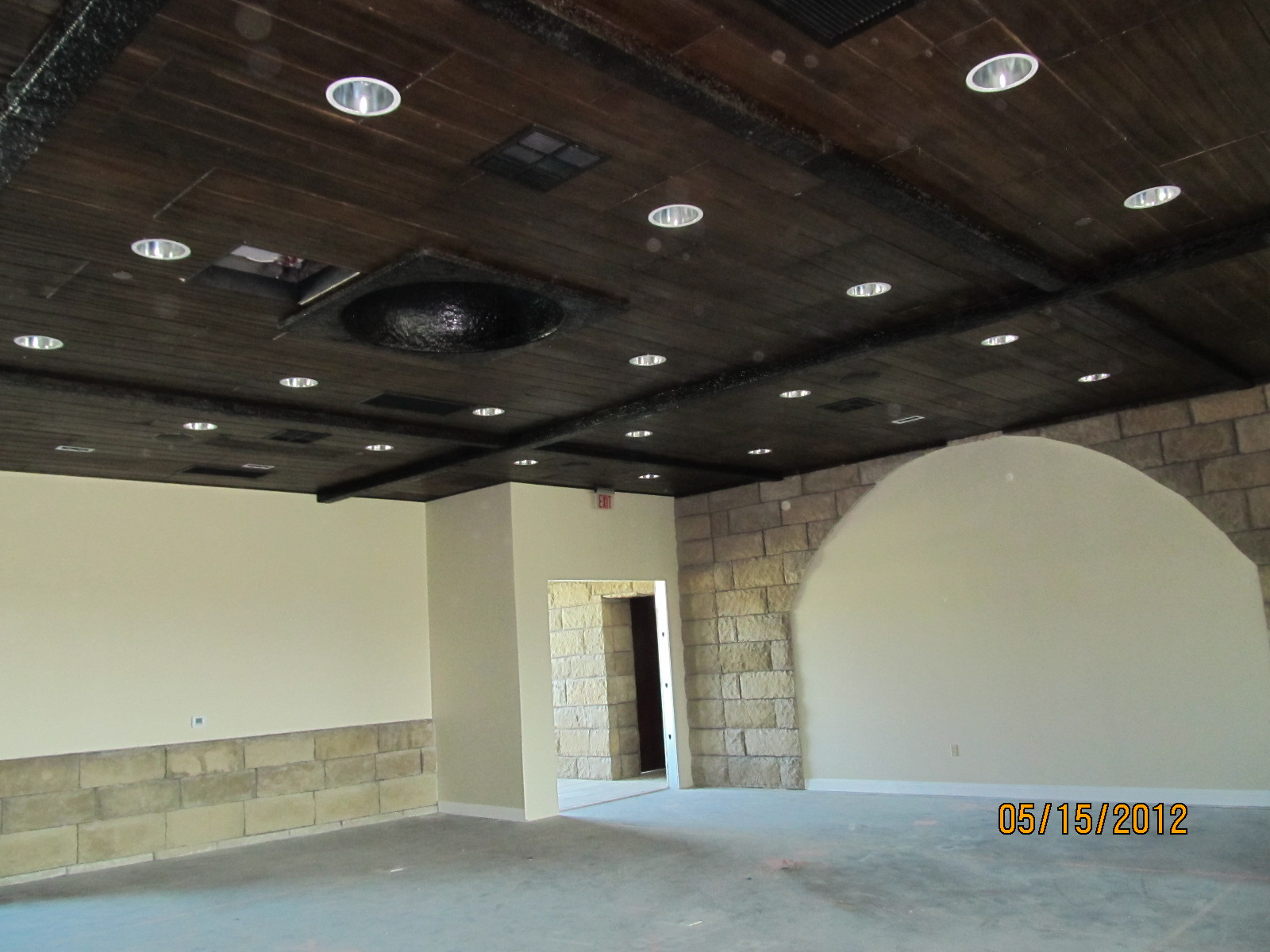 Faux Wood Ceiling and Beams