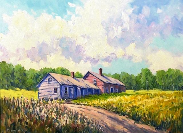 Farmhouse at Savoy, MA, 18 x 24 Oil