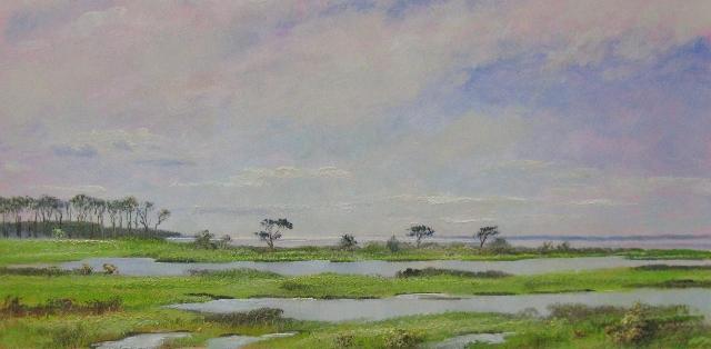 1. Assateague  Island, 8x16  oil on panel