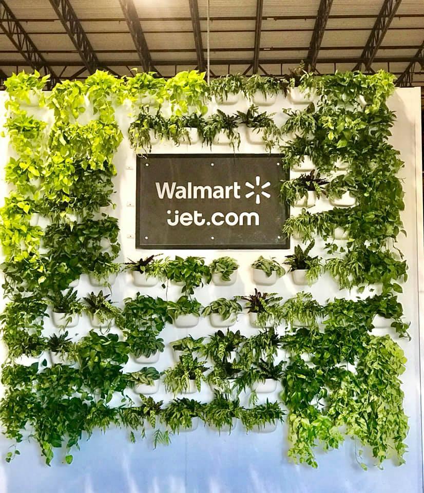 Walmart Jet.com Living Wall Build 1