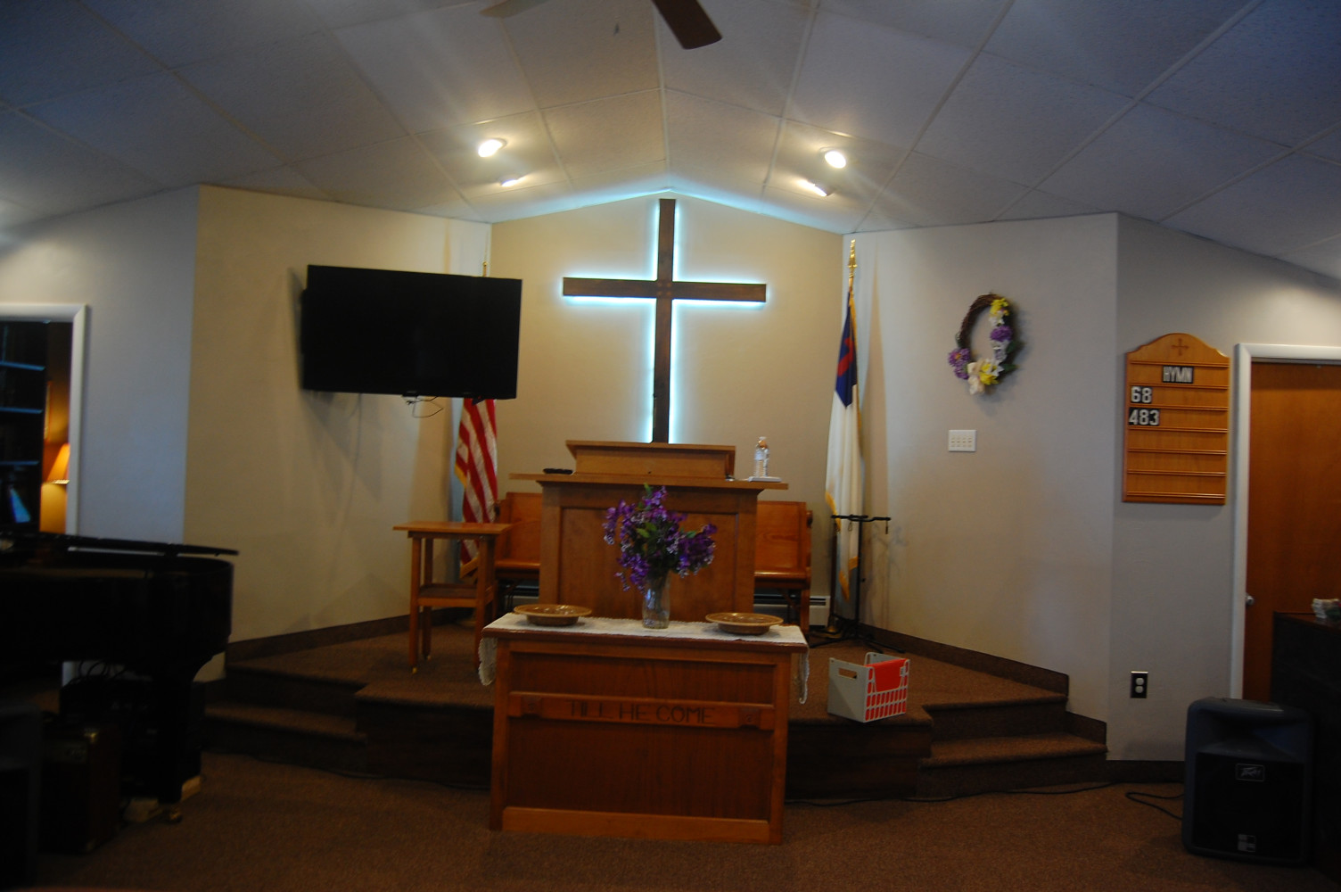 Front of the sanctuary.