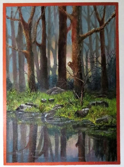 Woodland Reflections - Acrylic on Board 60x40cm SOLD