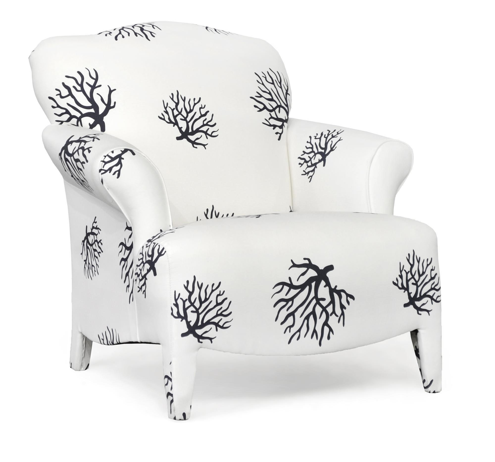 100 Olivia  Coral Accent Chair