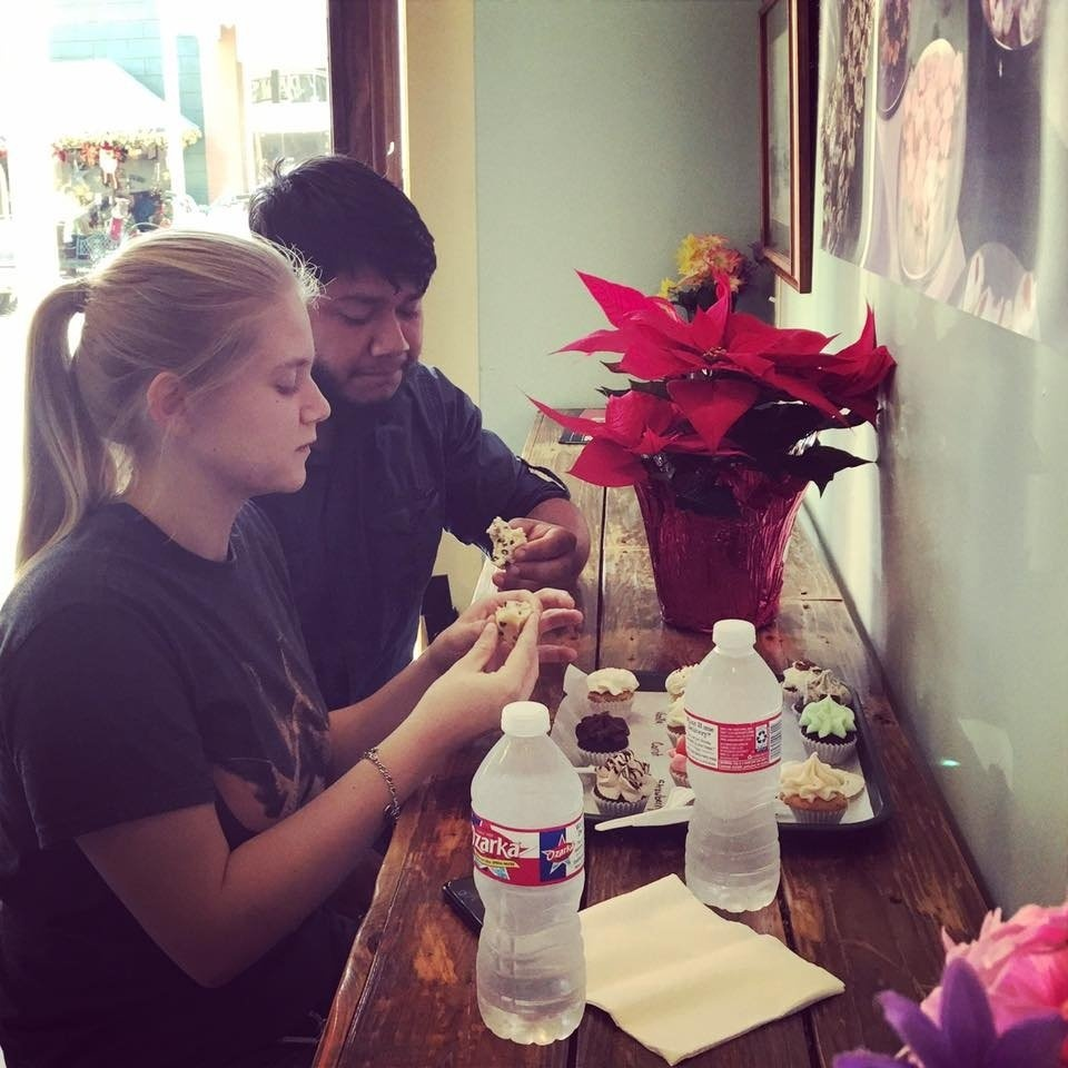 Couple Eating Cupcakes
