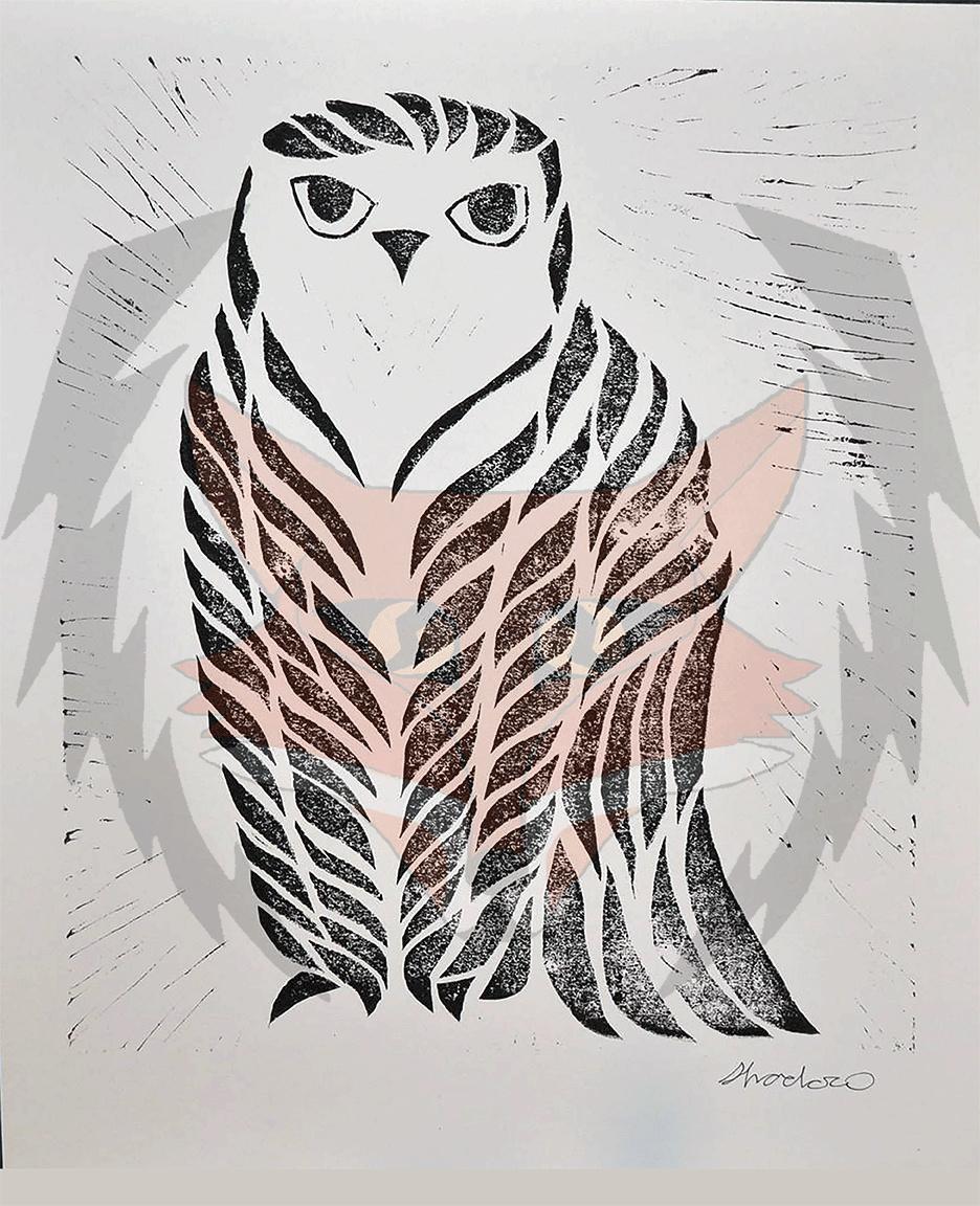 Tribal Owl Print