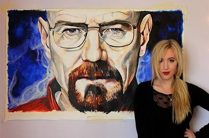 Walter White, Acrylic on Paper, 2013.