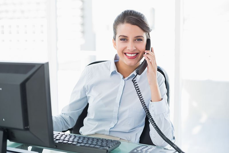 Secretary answering a call