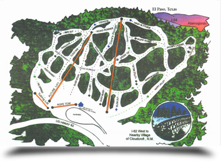 Ski cloudcroft map    