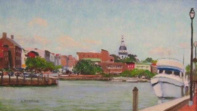 13. The Annapolis Harbor, 7x12 oil on panel