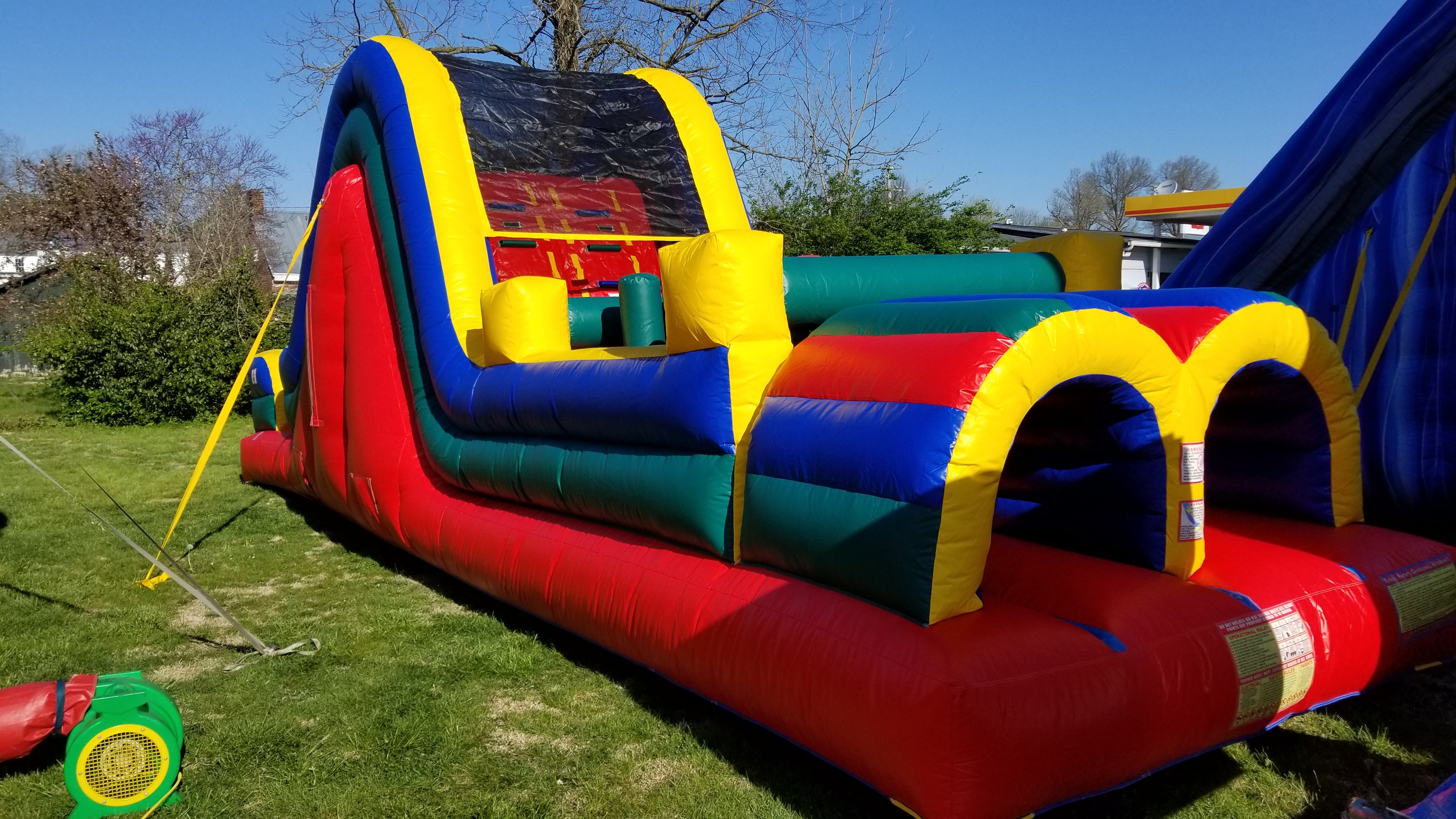 36' Dual Lane Obstacle Course $325