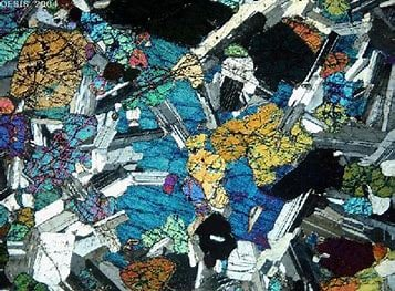 Igneous thin section
