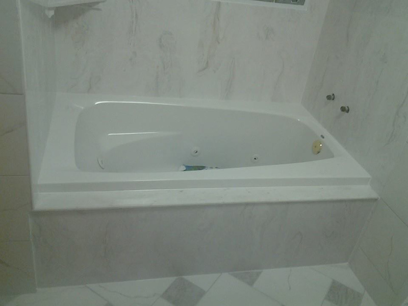 Well finished bath tub