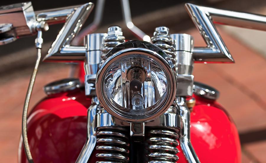 Beleuchtung alte Harley Davidson
