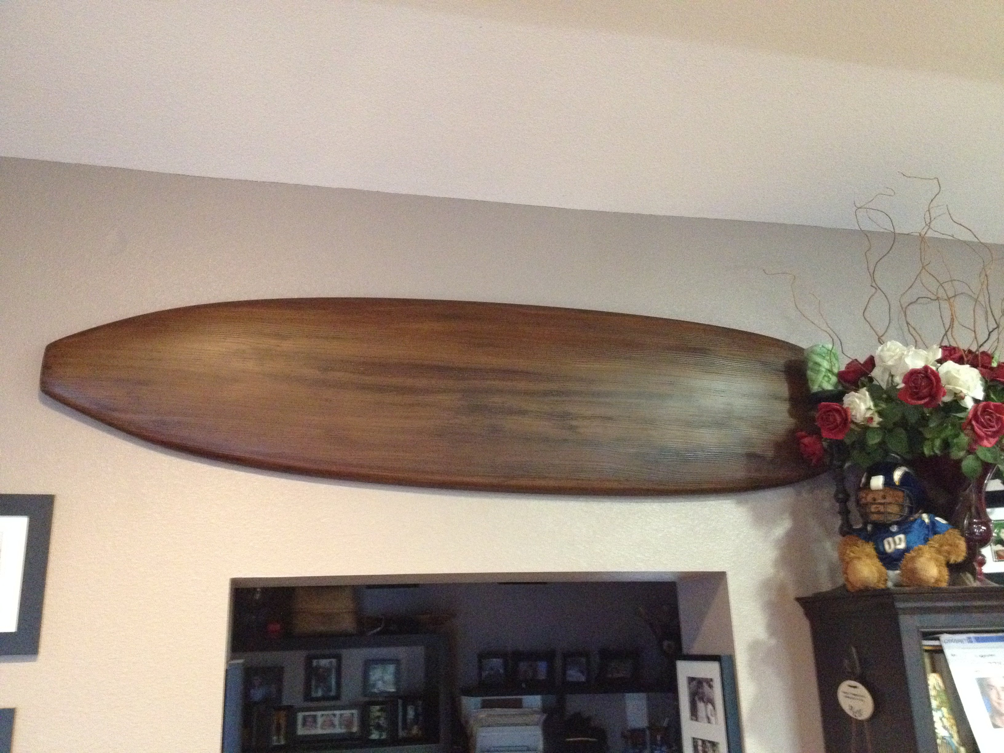 Faux Wood Surfboard