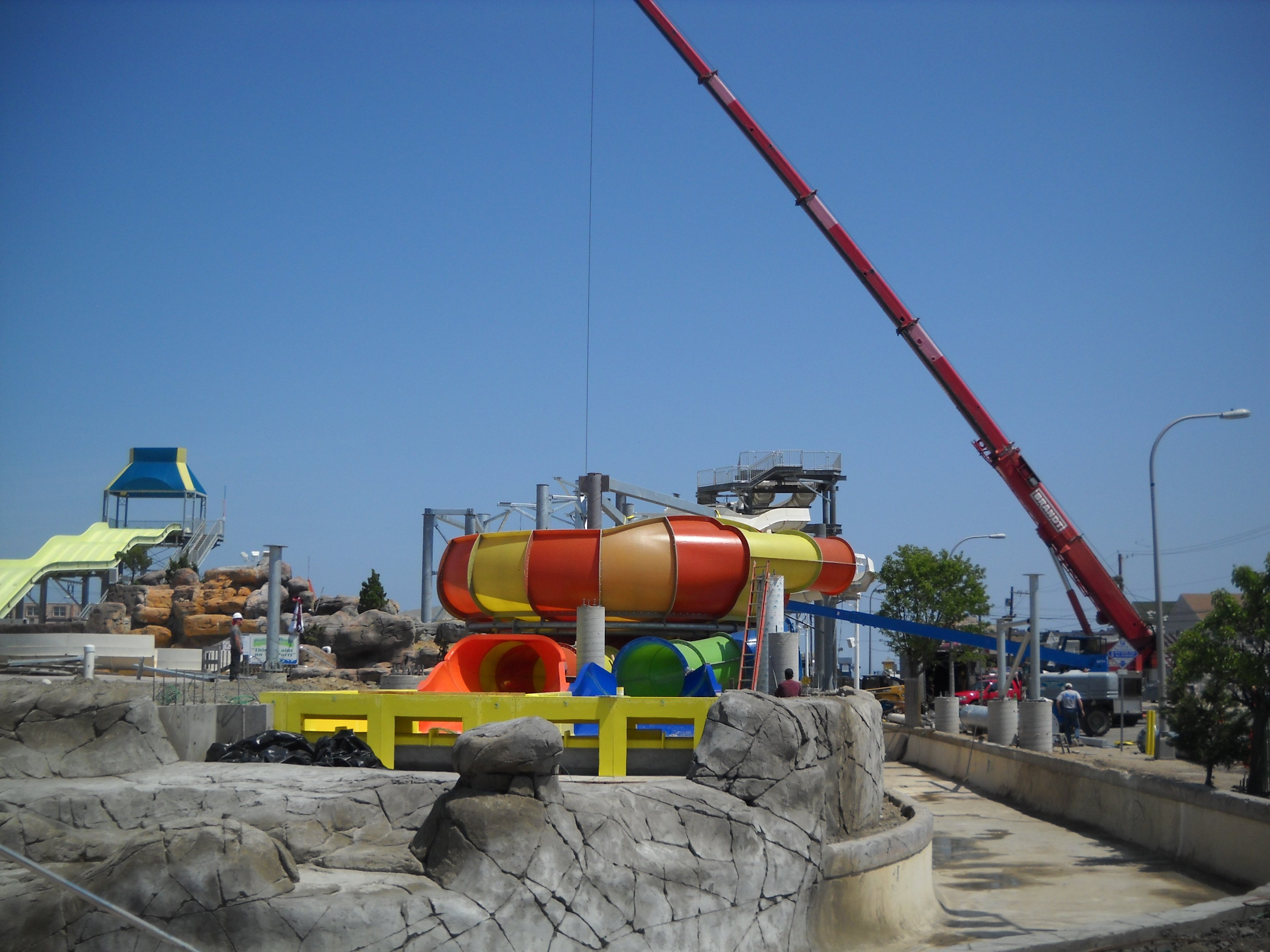 Breakwater Beach Waterpark Construction