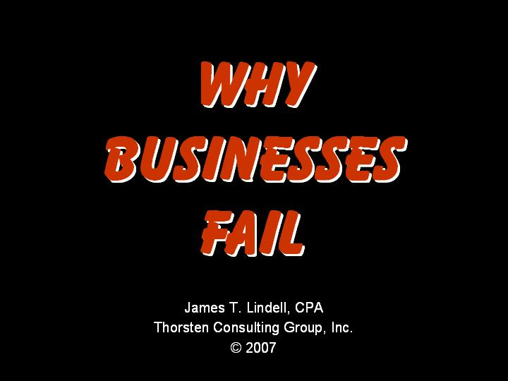 why businesses fail - Jim Lindell