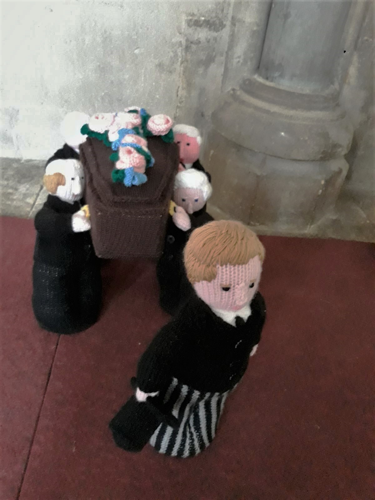 Knitted Funeral Procession