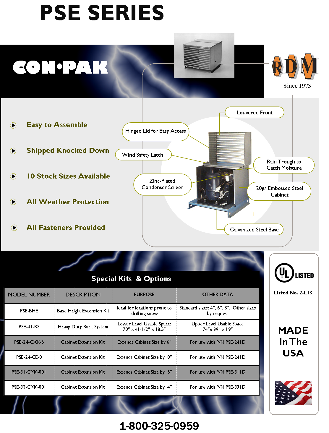 PSE Series Enclosure Flyer