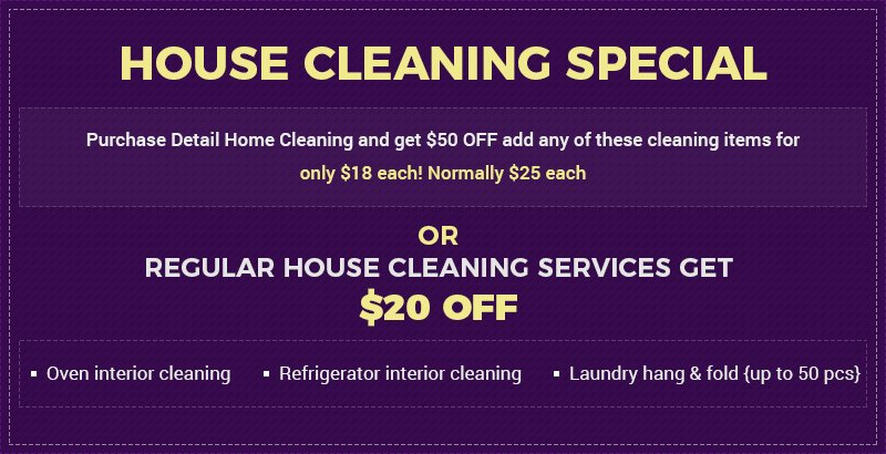 House Cleaning Special