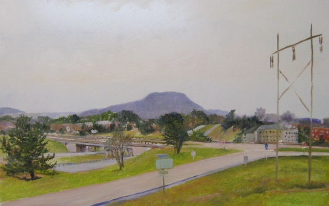 6. I-64 W at RT 11,  Westward View, 10x16 oil on panel