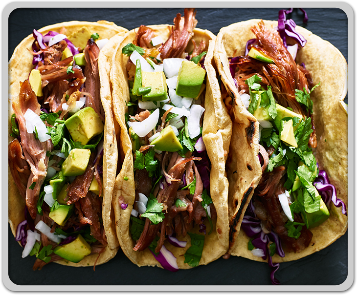 Mexican Pork Carnitas Tacos