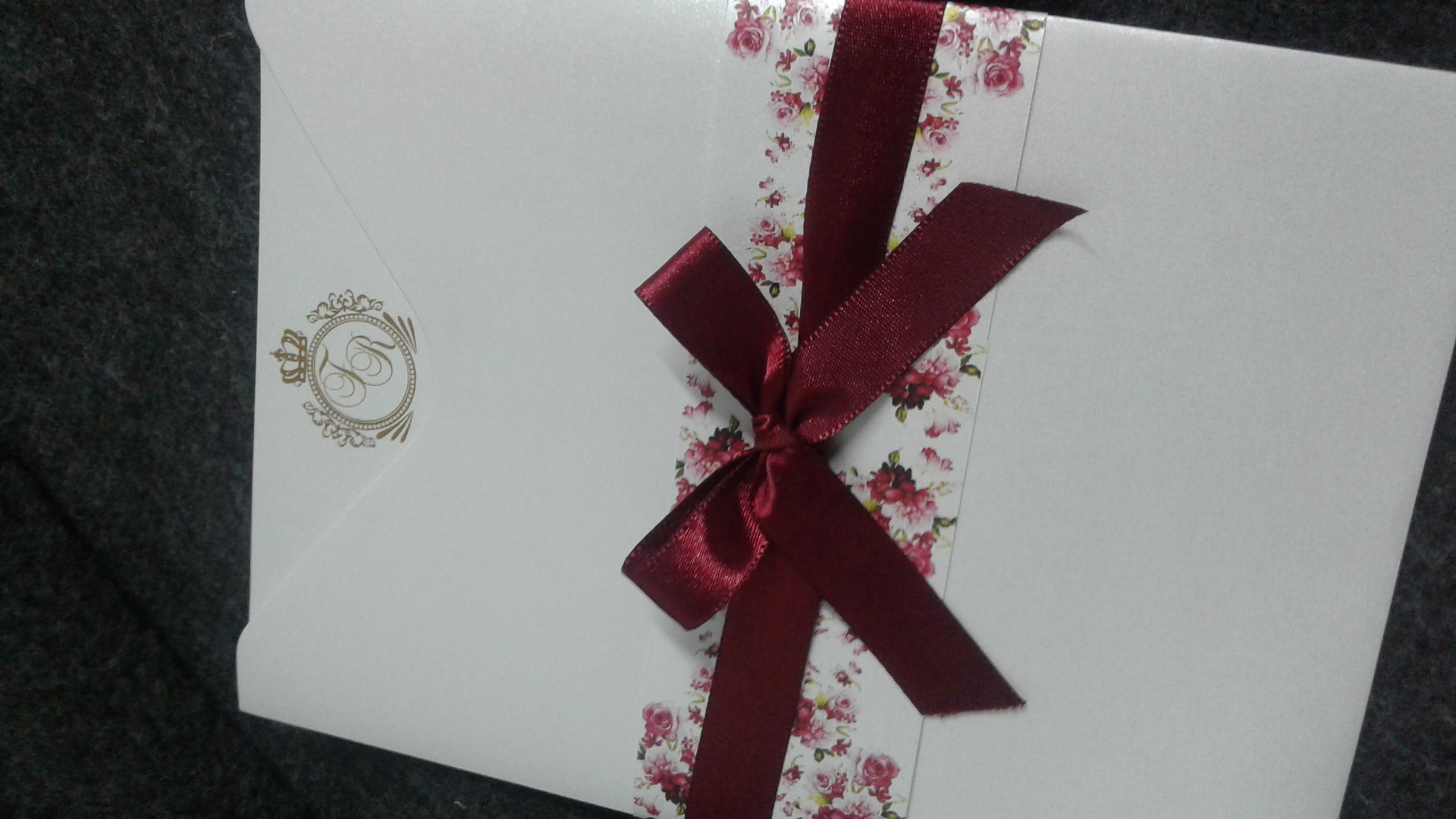 Convite faixa floral