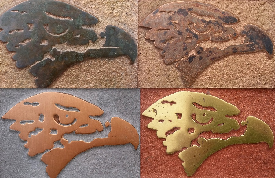 Specialist metal finishes - metal coatings in bronze, copper, brass, pewter, blackened steel.