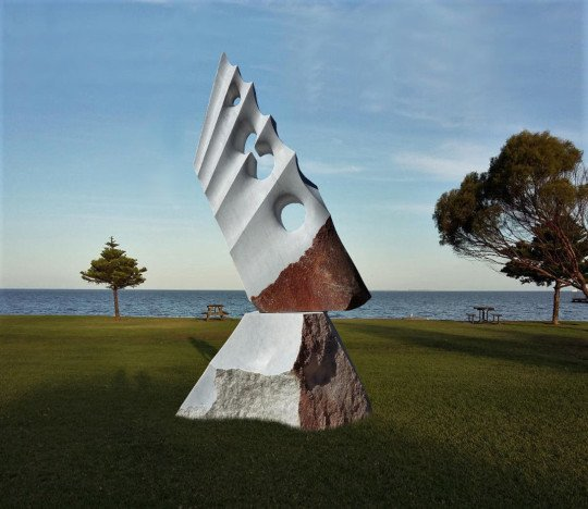 Solitary Sailing - White marble , Adelaide - Australia