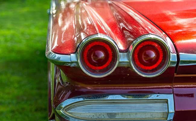 Taillight of Vintage Automobile