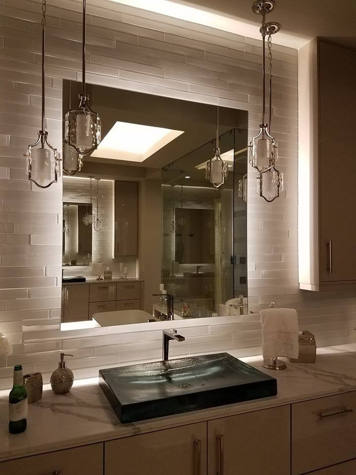 Custom Back-lit Mirror