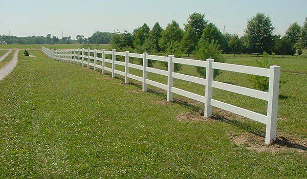 White Long Fence