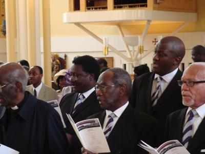 Old Boys inside the Church