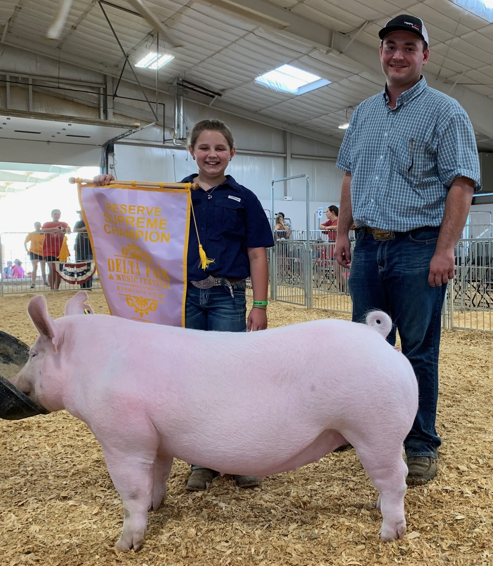 Ann Thomas Lowery 2019 Delta Fair & Music Festival Reserve Supreme Overall (Day 2) Champion Yorkshire Gilt (Day 1 & 2)