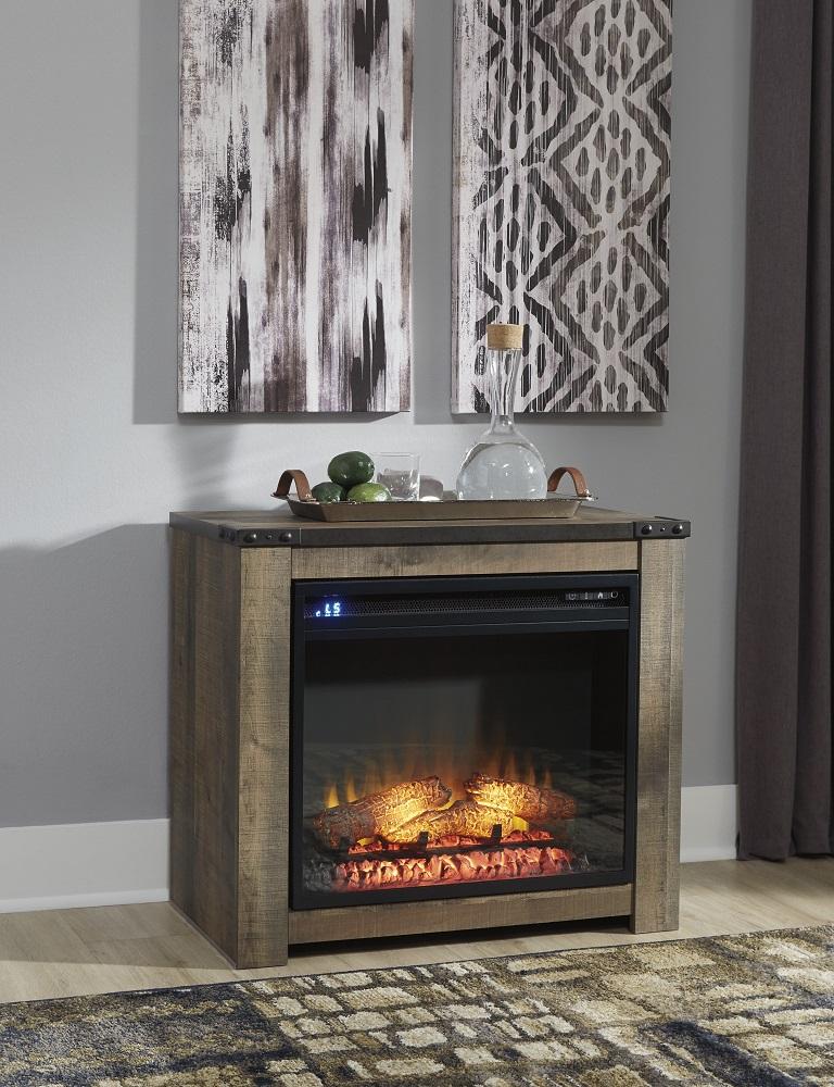 W446 Trinell Mantel w/ Fireplace