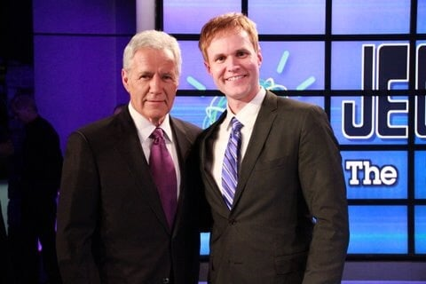 Alex Trebek and Todd