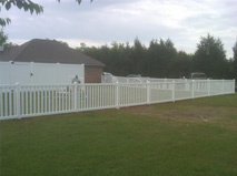 White Wooden Fence 4