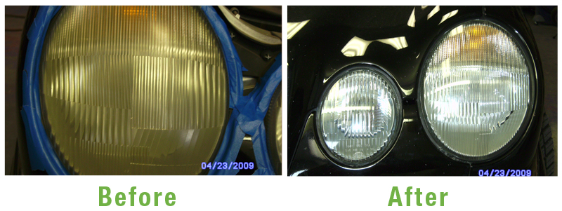 Headlights Before and After