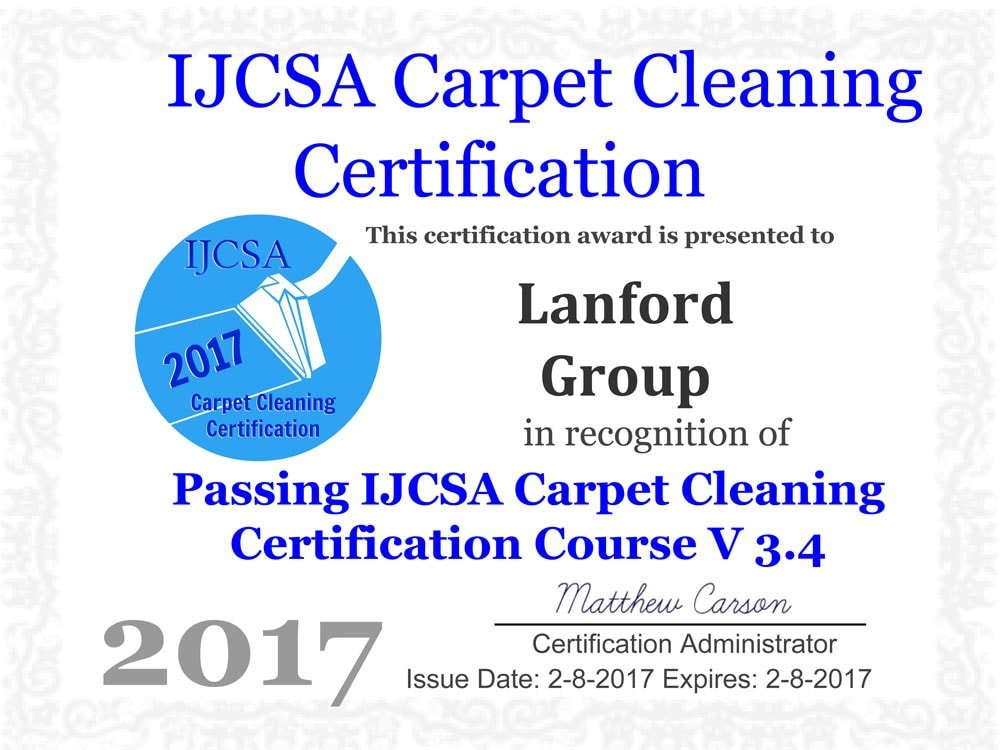 Lanford Group Certifications