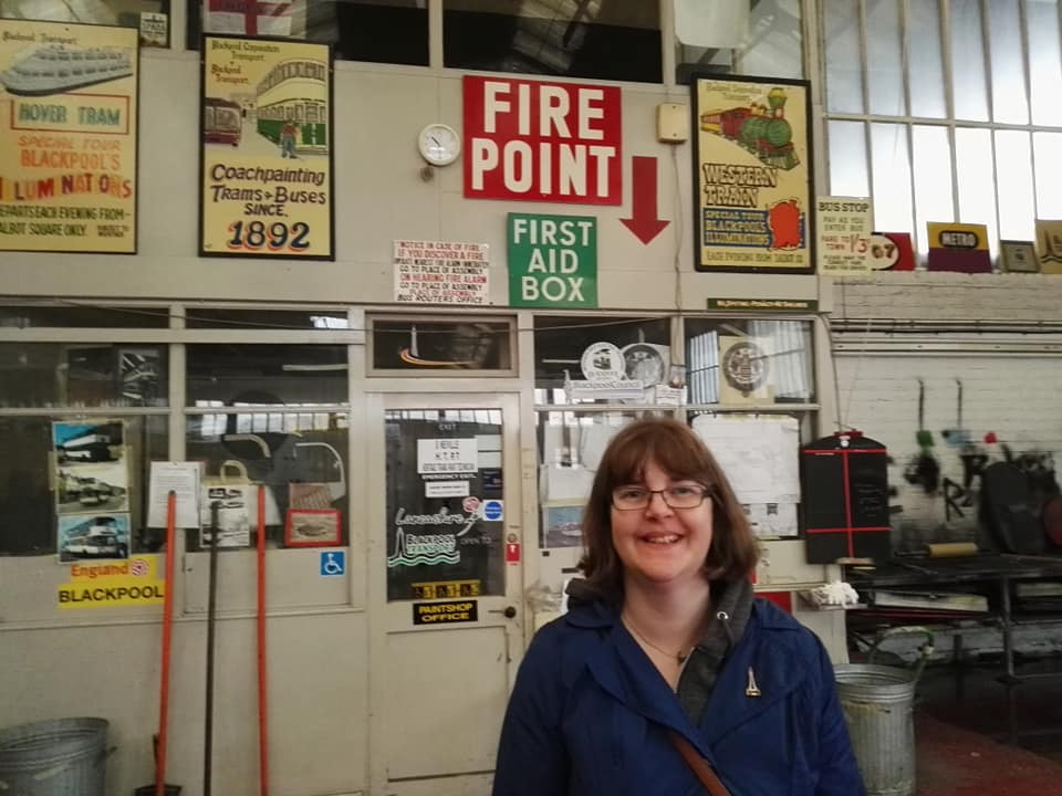 Susan in Rigby Road tram depot