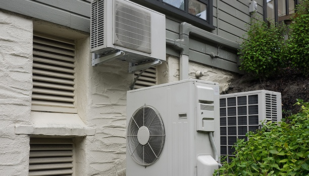Air Conditioning And Heating Unit For a Residential House