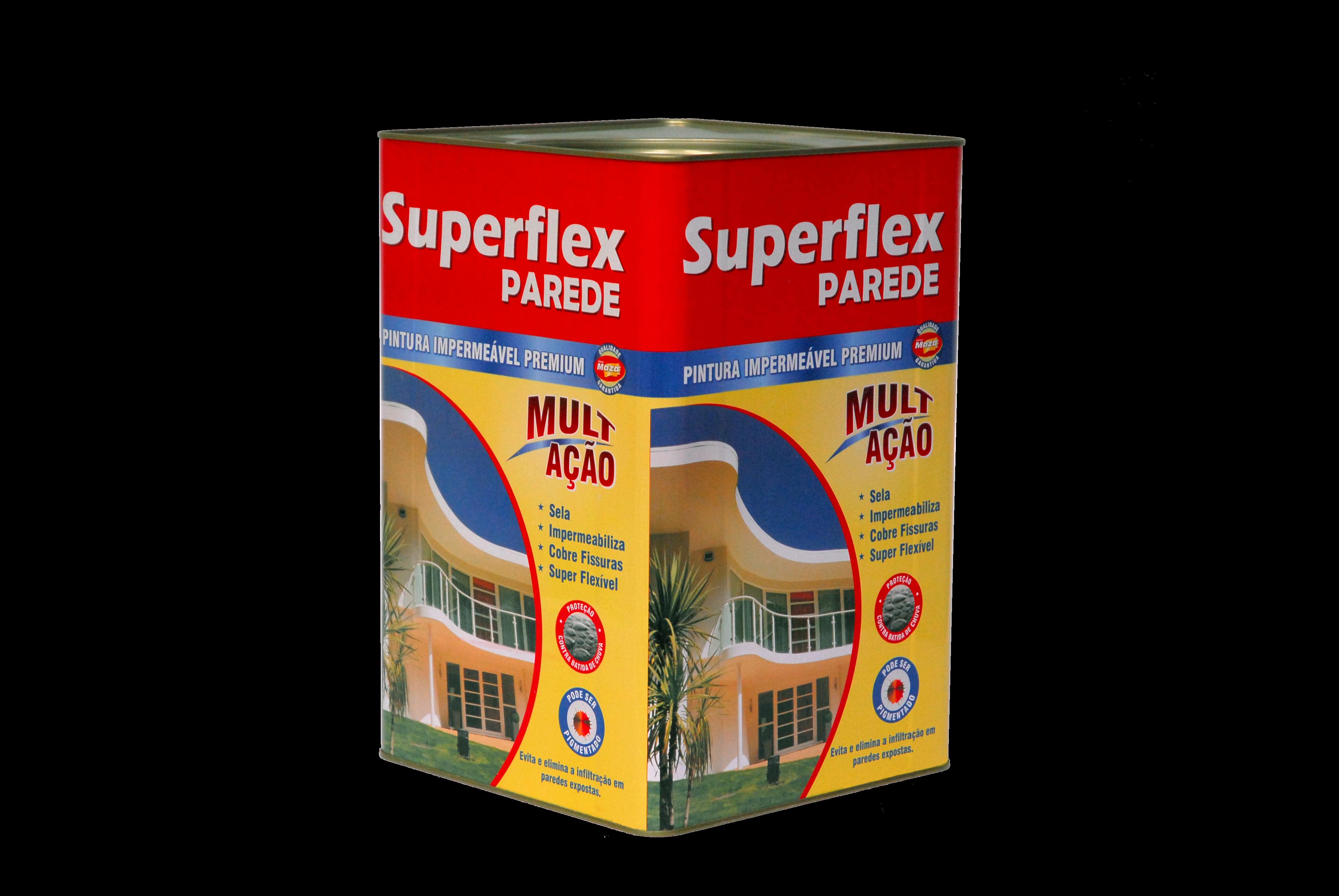 SUPERFLEX PAREDE MAZA IMPERMEABILIZA E REDUZ O CALOR