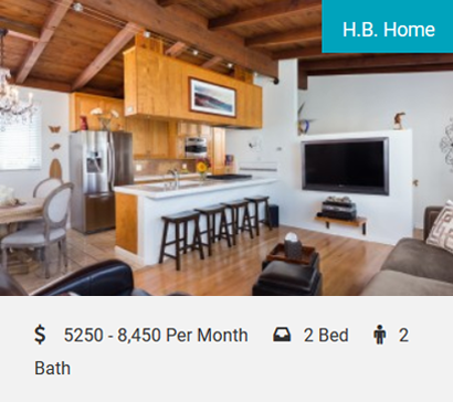 H.B. Home Cozy Beach House 1 1/2 blocks from the sand! 2 beds, 2 baths, sleeps 4! Walk to everything! Tastefully decorated with new furnishings and 2-car parking! If you really want to…