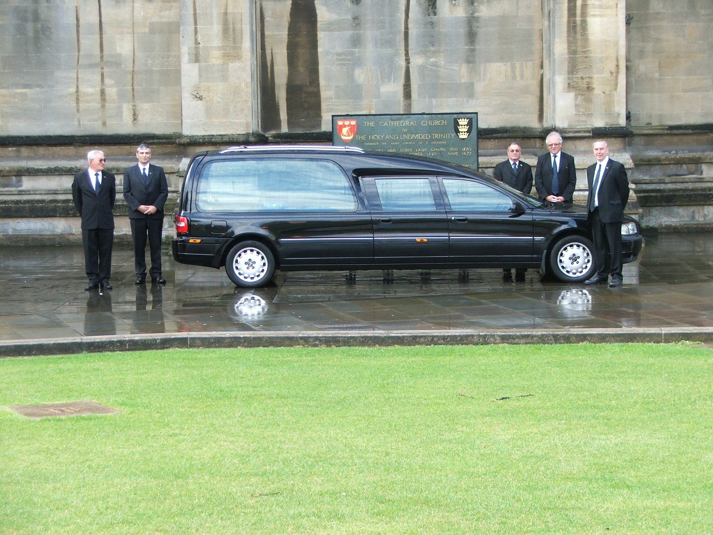 Hearse and bearers