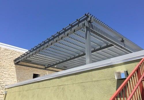 Steel Pergola On A Roof