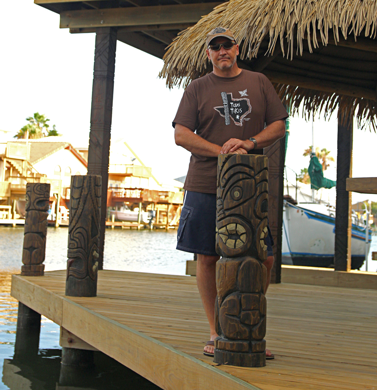 Boat dock tikis