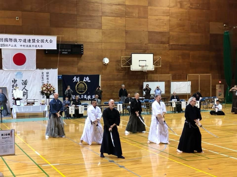 Toyama Ryu Embu - participants from UK, Australia,  California and Kenshinkan Dojo.