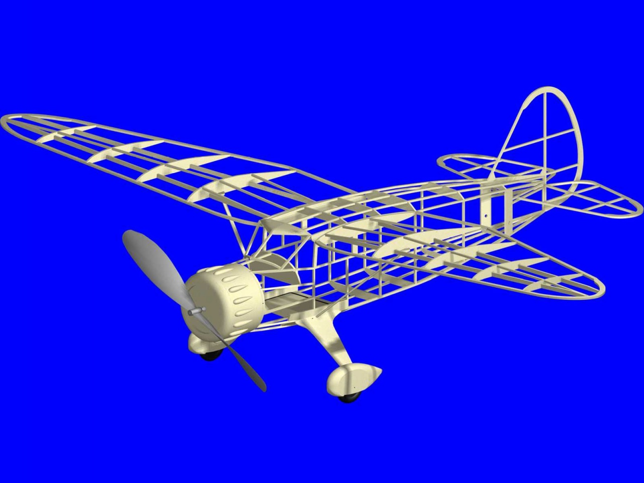 Paul and Ralph Bradley's Model Airplane Hangout - CAD Drawn
