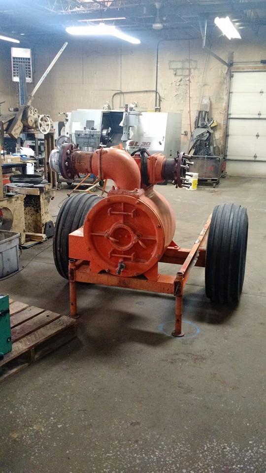 Orange Industrial Machine