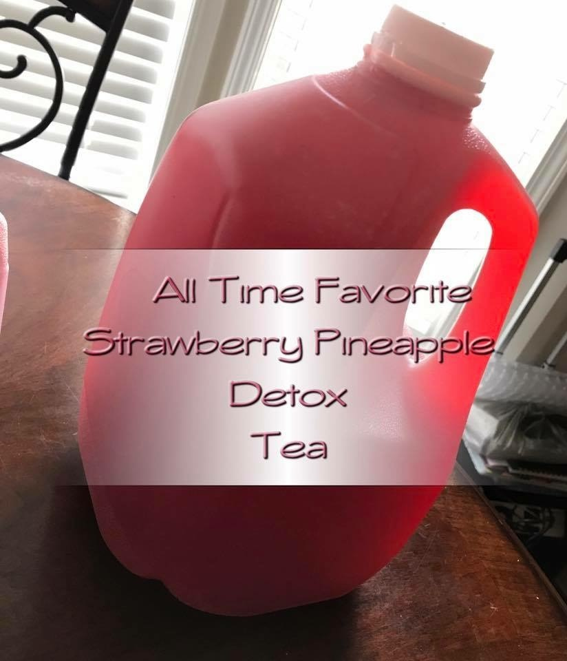 Strawberry Pineapple Detox Tea