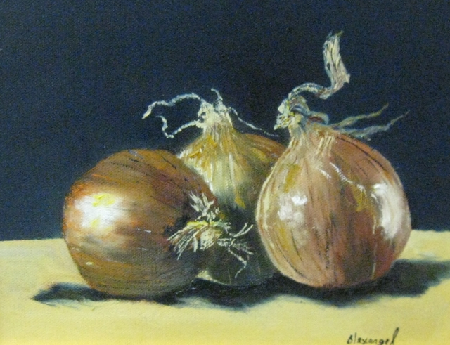 Estevez, Spanish Onions, 8x10, Oil